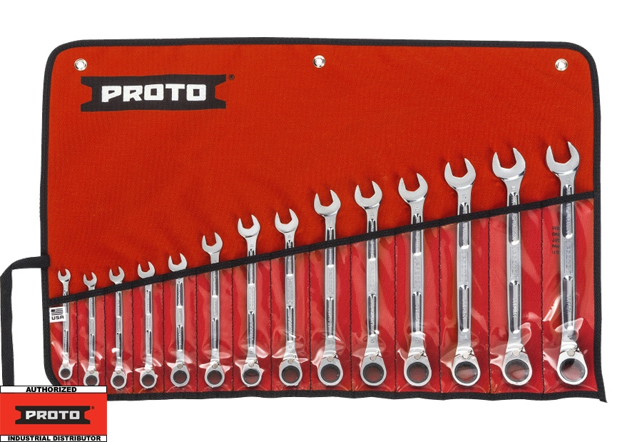 Proto Tool JSCVM-14SA 14 Pc Metric Combination Ratcheting Wrench Set