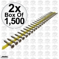 "Quik Drive CB3BLG114S 2x 1500pk 1-1/4"" x #10 Fiber Cement Backerboard Screws"