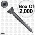 "Quik Drive WSC112S 1-1/2"" Coarse Square Drive Collated Strip Screws + 2 Bits"
