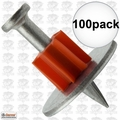 "Ramset 1508 Box of 100 1"" Head Drive Powder Fastener"