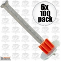 "Ramset 1516SDC 6pk Boxes of 100 2-1/2"" Powder Fastening Pins with Washers"