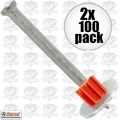 "Ramset 1516SDC 2x Boxes of 100 2-1/2"" Powder Fastening Pins with Washers"