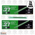 Ramset 3RS27 2pk 10 Strips of 10 (200 loads) #3 Green 27cal Strip Loads
