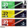 Ramset 3RS27-X3 3x 10 Strips of 10 Green, Yellow, Red 27 cal Strip Loads