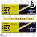 "Ramset 4RS27 2x 10 Strips of 10 (200 total) #4 ""Yellow"" 27 cal Strip Loads"