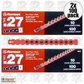 "Ramset 5RS27 2x 10 Strips of 10 (200 total) #5 ""Red"" 27 cal Strip Loads"