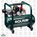 Rolair JC10 1HP Air Compressor Ultra Quiet 2-cyl 125psi + Rgltr <39lbs O-B