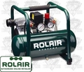 Rolair JC10 Air Compressor Ultra Quiet 2-cyl 125psi + Reg <39lbs