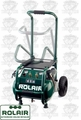 Rolair VT25BIG 2.5 HP 115V 6.5 CFM@90PSI, 5.3 Gal Compressor Folding Handle