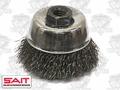 "Sait 06401 2-3/4"" x 5/8-11"" Crimped Wire Cup Brush"