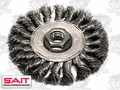 "Sait 06426 4"" x 5/8""-11 Twisted Wire Wheel Metal Brush"