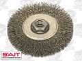 "Sait 06450 4"" x 5/8""-11 Crimped Wire Wheel Metal Brush"
