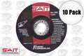 Sait 20015 10pk Metal Cutting Grind Wheel