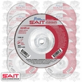 "Sait 20163 10pk 4-1/2"" x 5/8""-11 x 1/4"" Metal Cutting Grind Wheel"