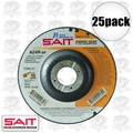 "Sait 22030 25pk 4-1/2"" x 7/8"" x 1/8"" Metal Cutting Pipeline Wheel"
