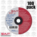 "Sait 23050 100pk 3"" x 3/8"" x .035"" Thin Metal Cutting Wheel"