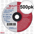 "Sait 23065 500pk 4"" x 3/8"" x 1/16"" Thick Metal Cutting Wheel"