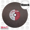 "Sait 23410 10pk 12"" x 1"" x 1/8"" Metal Cutting Wheel"