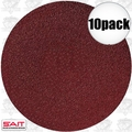 "Sait 35100 10pk 6"" Abrasive Sanding Disc Adhesive Backed (peel and stick)"