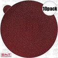 "Sait 35127 10pk 8"" Abrasive Sanding Disc Adhesive Backed (peel and stick)"