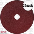 "Sait 50001 20pk 4"" x 5/8"" 36 Grit Resin Fiber Disc for Sanders and Grinders"