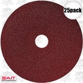 "Sait 50002 25pk 4"" x 5/8"" 50 Grit Resin Fiber Disc for Sanders and Grinders"