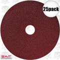 "Sait 50035 25pk 7"" x 7/8"" 80 Grit Resin Fiber Disc for Sanders and Grinders"