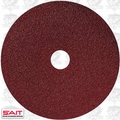"Sait 50037 7"" x 7/8"" 120 Grit Resin Fiber Disc for Sanders and Grinders"