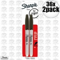 Sharpie 30162PP 36x 2pk Fine Point Black Marker
