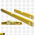 "Stabila 29824 3 Piece Aluminum Pro Carpenter Level Set 24"" 48"" & Torpedo"