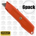 "Stanley 10-189C 6pk 5-5/8"" Self-Retracting Safety Utility Knife"