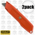"Stanley 10-189C 2pk 5-5/8"" Self-Retracting Safety Utility Knife"