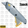 "Stanley 10-499 2pk 6"" Quick Change Retractable Utility Knife"