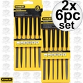 "Stanley 22-316 2x 6pc Precision 5-1/2"" Hobby File Set"