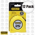 Stanley 30-454 12pk 25' Fractional Read Tape Measure