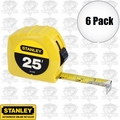 "Stanley 30-455 6pk 25' x 1"" Tape Measure"