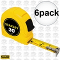 "Stanley 30-464 6pk 30' x 1"" Tape Measure"