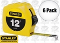 "Stanley 30-485 6pk 12' x 1/2"" Tape Rule"
