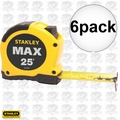 "Stanley 33-279 6pk 1-1/8"" x 25' MAX Tape Measure"