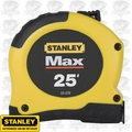 "Stanley 33-279 1-1/8"" x 25' MAX Tape Rule with AirLock 10' standout"