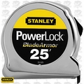 "Stanley 33-525 25' x 1"" PowerLock Tape Rule w/ Blade Armor Coating"