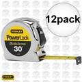 Stanley 33-530 12pk 30' Powerlock Tape Measure