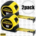 "Stanley 33-716 2pk 16"" FatMax Tape Measure"
