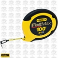 "Stanley 34-130 100' x 3/8"" FatMax Closed Long Tape Measure"