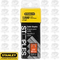 "Stanley CT106T 1000pk 3/8"" Round Crown Cable Staples"