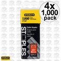 "Stanley CT106T 4x 1000pk 3/8"" Round Crown Cable Staples"