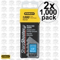 "Stanley TRA704T 2x Box of 1000 1/4"" Heavy Duty Staples"
