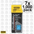 "Stanley TRA704T 7x 1,000pk 1/4"" Heavy Duty Staples"