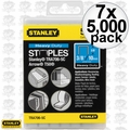 "Stanley TRA706-5C 7x 5000pk 3/8"" Heavy Duty Narrow Crown Staples"