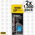 "Stanley TRA706T 2x Box of 1000 3/8"" Heavy Duty Staples"